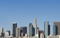 Los Angeles Skyline at Daybreak Stock Photo