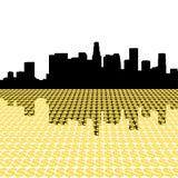 Los Angeles Skyline with dollar vector illustration