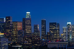 Los Angeles Skyline at Dusk Royalty Free Stock Photo