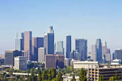 Los Angeles Skyline on an Early Morning Stock Photo