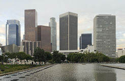 Los Angeles Skyline in Early Morning Royalty Free Stock Photo