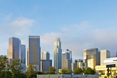 Los angeles Skyline In Early Morning Clouds Royalty Free Stock Images