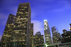Los Angeles skyline financial district Stock Image