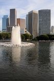 Los Angeles skyline with fountain Royalty Free Stock Photography