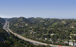 Los Angeles Skyline and Freeway Stock Images