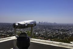 Los Angeles Skyline from Griffith Observatory stock image