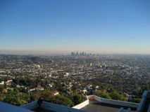 Los Angeles Skyline from Griffith Observatory Royalty Free Stock Photo