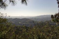 Los Angeles-Skyline im Abstand Stockfotografie