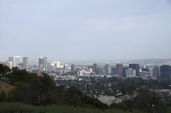 Los Angeles-Skyline im Stadtzentrum gelegen Lizenzfreie Stockfotos