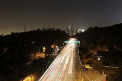 Los Angeles Skyline Long Exposure 01 Royalty Free Stock Images