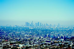 Los Angeles skyline. A mountain top view of Los Angeles cityscape Stock Image