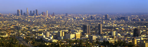 Los Angeles Skyline from Mulholland Stock Images
