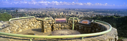 Los Angeles Skyline from Mulholland Royalty Free Stock Photo