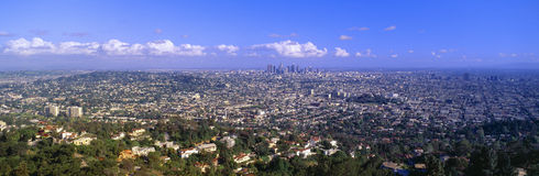 Los Angeles Skyline from Mulholland, California Stock Photography