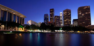 Los Angeles skyline at night Stock Image