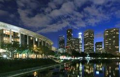 Los Angeles skyline at night. Beautiful Los Angeles skyline and reflection at night Stock Photography