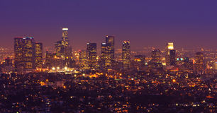 Los Angeles Skyline Panorama Royalty Free Stock Photos