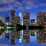 Los Angeles skyline and reflection Royalty Free Stock Photos
