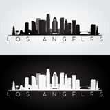 Los Angeles skyline silhouette Stock Images