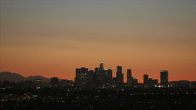 Los Angeles-Skyline-Sonnenaufgang stock video
