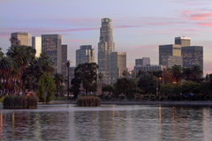 Los Angeles Skyline at Sunset Stock Image