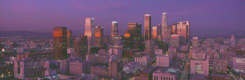 Los Angeles, Skyline, Sunset, California Royalty Free Stock Photos