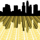 Los Angeles Skyline with text. Los Angeles skyline reflected with text illustration Royalty Free Stock Image