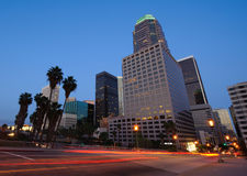 Los Angeles skyline at twilight Stock Photography