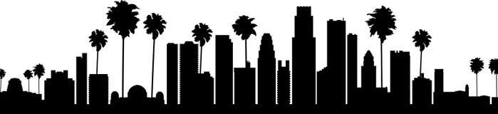 Los Angeles Skyline Vector Royalty Free Stock Photos