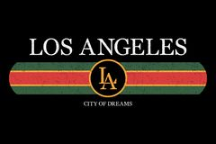 Los Angeles Slogan Graphic For T-shirt. Fashion Typography Print For Design Clothes And Tee Shirt. Vector. Royalty Free Stock Images