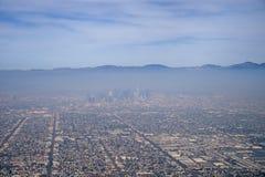 Los Angeles smog royaltyfria foton