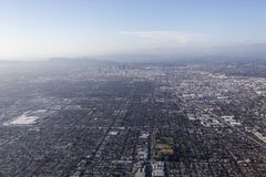 Los Angeles-Smog-Antenne Lizenzfreies Stockbild