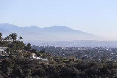 Los Angeles Smoggy Morning Cityscape stock photos