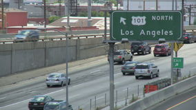 Los Angeles 101 Snelwegverkeer stock video
