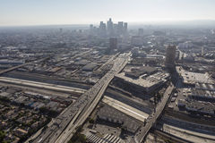 Los Angeles-Sommer-Smog-Antenne Lizenzfreies Stockbild