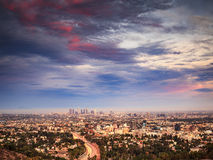 Los Angeles am Sonnenuntergang Lizenzfreie Stockfotografie