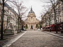 Los Angeles Sorbonne jest Paryjskim budynkiem czyj sława łączy, obrazy stock