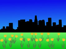 Los Angeles in spring Stock Image