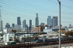 Los Angeles står högt, Santa Monica Beach, Kalifornien, USA royaltyfri fotografi