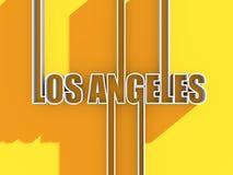 Los Angeles stadsnamn arkivfoto