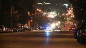 Los Angeles stadstrafik på natten - Timelapse 1 av 3