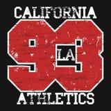 Los Angeles-Stadt-Typografiedesign Lizenzfreies Stockfoto