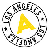 Los Angeles stamp Stock Photography