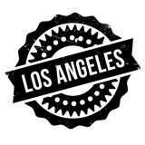 Los Angeles stamp Royalty Free Stock Photos