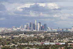 Los Angeles Storm Sky Downtown View Royalty Free Stock Photography