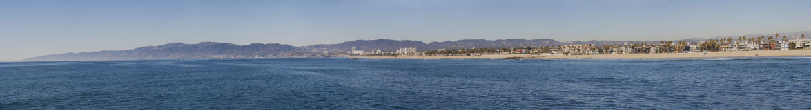 Los Angeles strandpanorama Royaltyfri Foto