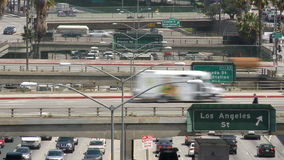 Los angeles street exit. Video of los angeles street exit stock video footage