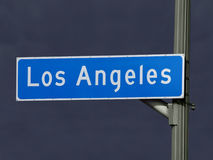 Los Angeles Street Sign Storm Stock Images