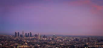 Los Angeles at sunset. Los Angeles in the beautiful colors of sunset Royalty Free Stock Photography