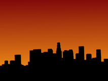 Los Angeles at sunset. Los Angeles skyline at sunset with beautiful sky Stock Image